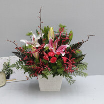 Red Pink and Green Arrangement